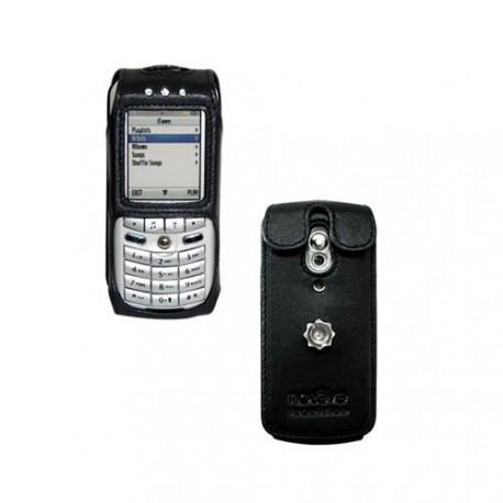 Leather case Motorola Apple Rokr E1  - Noir ( Nappa - Black )