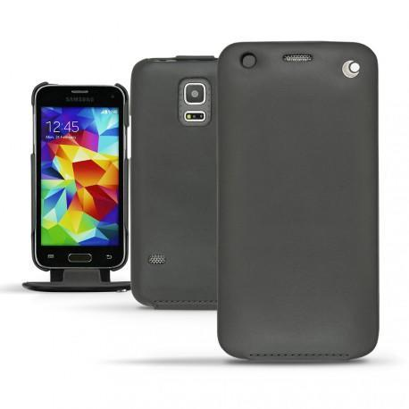 Samsung SM-G800 Galaxy S5 mini  leather case - Noir ( Nappa - Black )