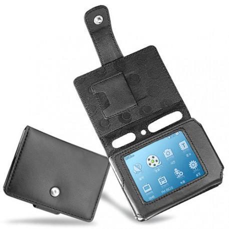 Cowon iAudio D2  leather case - Noir ( Nappa - Black )