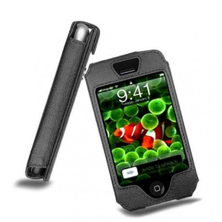 Apple iPhone leather case - Noir ( Nappa - Black )