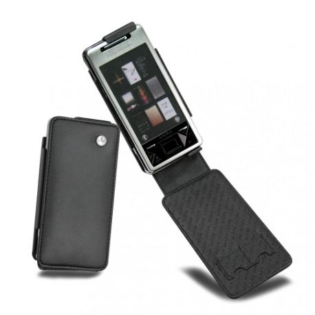 Housse cuir Sony Ericsson Xperia X1  - Noir ( Nappa - Black )
