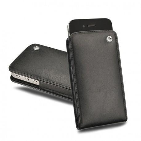 가죽 커버 Apple iPhone 4 - Noir ( Nappa - Black )