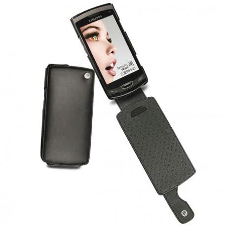 가죽 커버 Samsung GT-S8530 Wave 2  - Noir ( Nappa - Black )