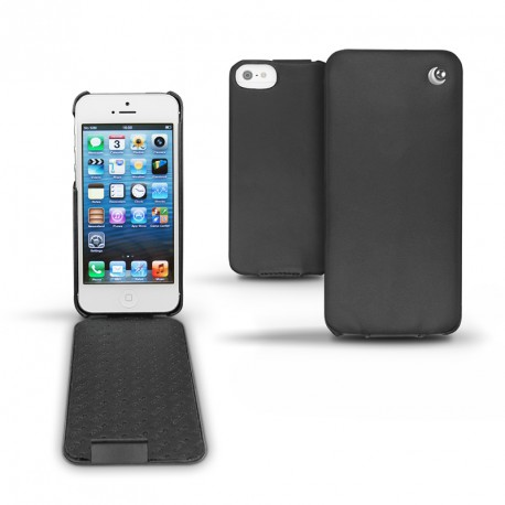 レザーケース Apple iPhone 5  - Noir ( Nappa - Black )