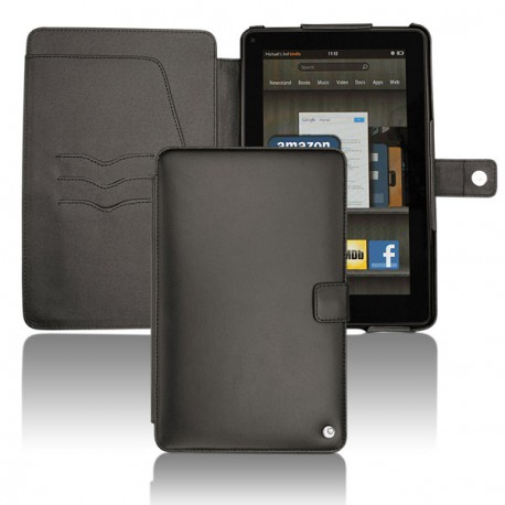 Housse cuir Amazon Kindle Fire  - Noir ( Nappa - Black )