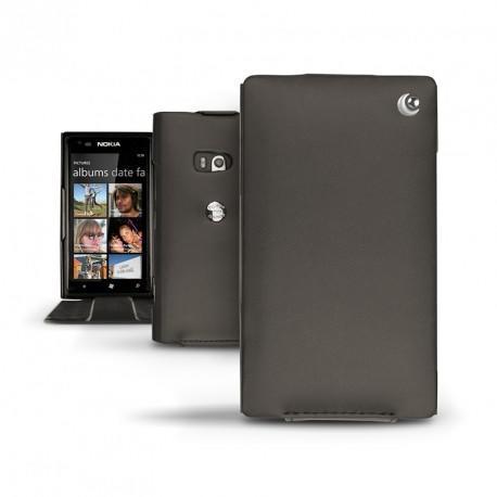 Nokia Lumia 900  leather case - Noir ( Nappa - Black )