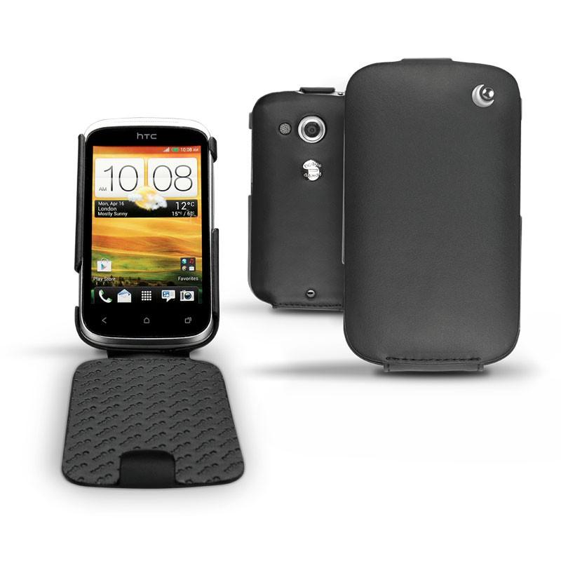 HTC Desire C leather case