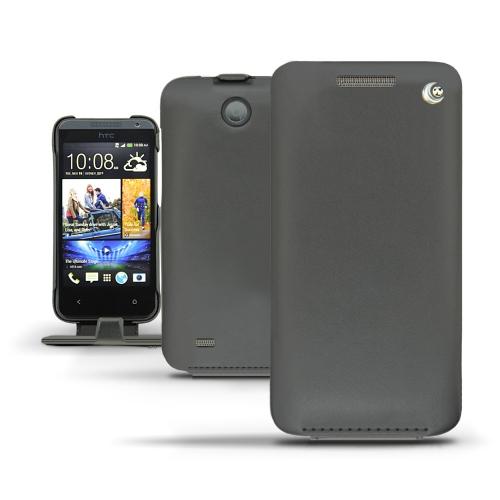 Housse cuir HTC Desire 300  - Noir ( Nappa - Black )
