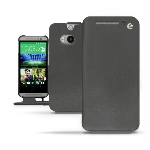 Housse cuir HTC One M8  - Noir ( Nappa - Black )