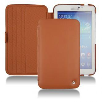 Samsung gt p3200 galaxy tab 3 7 0 leather case for Housse galaxy tab e