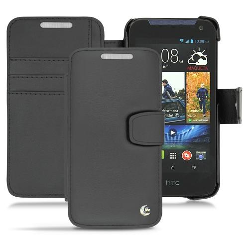 Housse cuir HTC Desire 310  - Noir ( Nappa - Black )
