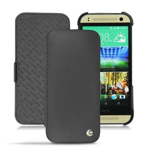 Housse cuir HTC One mini 2  - Noir ( Nappa - Black )