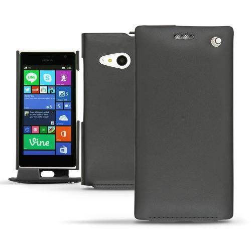 Nokia Lumia 730 - 735 leather case - Noir ( Nappa - Black )
