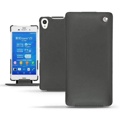 Sony Xperia Z3 leather case - Noir ( Nappa - Black )