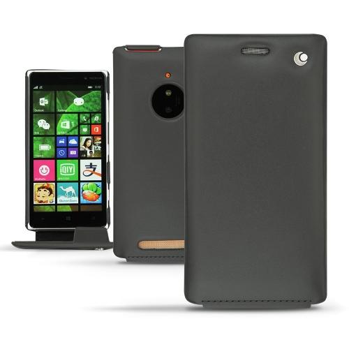 Nokia Lumia 830  leather case - Noir ( Nappa - Black )