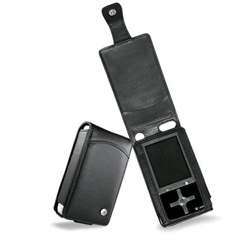 Etui cuir Toshiba Gigabeat S60V  - Noir ( Nappa - Black )