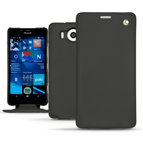硬质真皮保护套 Microsoft Lumia 950 - 950 Dual Sim - Noir ( Nappa - Black )