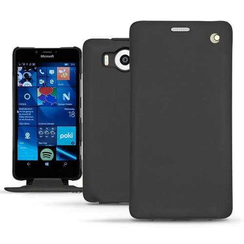 Lederschutzhülle Microsoft Lumia 950 - 950 Dual Sim - Noir ( Nappa - Black )