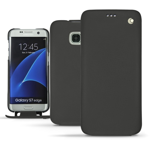 가죽 커버 Samsung Galaxy S7 Edge - Noir ( Nappa - Black )