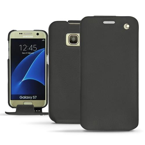 Funda de piel Samsung Galaxy S7 - Noir ( Nappa - Black )