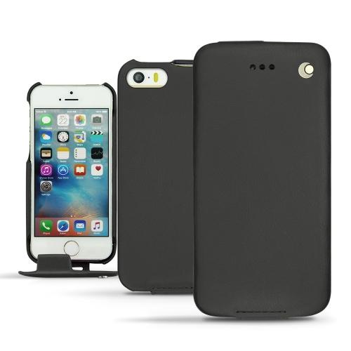 Apple iPhone SE leather case - Noir ( Nappa - Black )