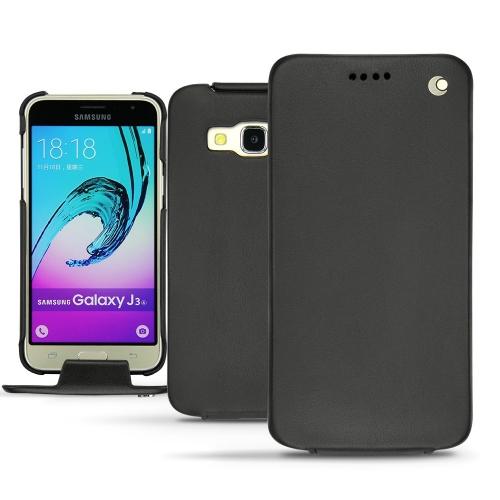 Funda de piel Samsung Galaxy J3 (2016) - Noir ( Nappa - Black )