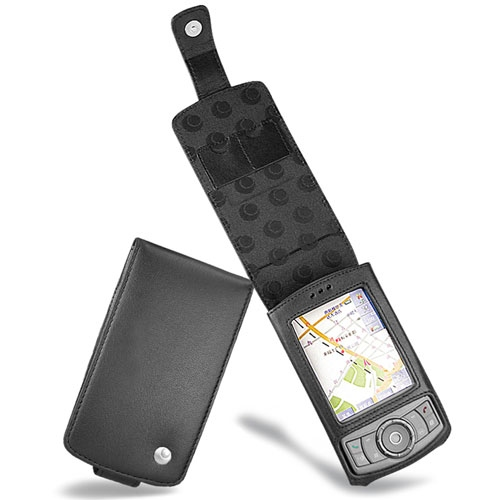 Housse cuir HTC P3300 - HTC P3350 - HTC Artemis - Dopod P800 - Noir ( Nappa - Black )