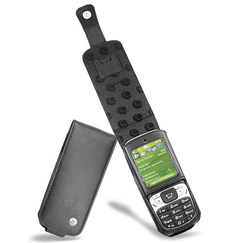 Housse cuir HTC S310 - HTC Oxygen - SPV C100 - Dopod 310 - Noir ( Nappa - Black )