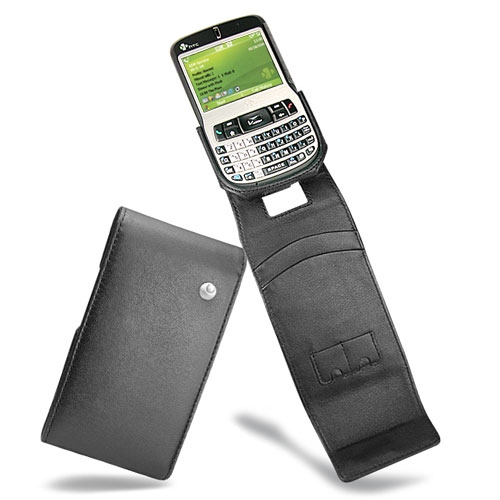 Housse cuir HTC S620 - HTC Excalibur - O2 Xda Cosmo - Noir ( Nappa - Black )
