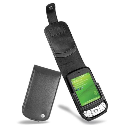 Housse cuir HTC P4350 - HTC Herald - Noir ( Nappa - Black )
