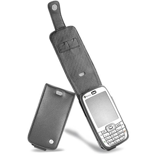 Housse cuir HTC S710 - HTC Vox  - Noir ( Nappa - Black )