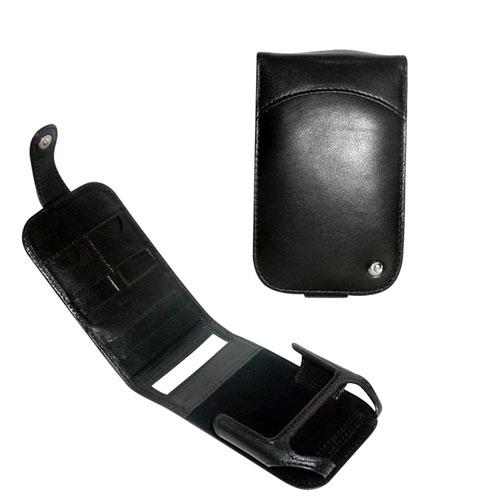 Etui cuir Dell Axim series X50 - X51  - Noir ( Nappa - Black )