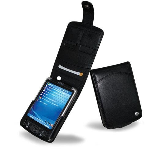 Etui cuir Acer N310 - N311 - N320 - N321  - Noir ( Nappa - Black )