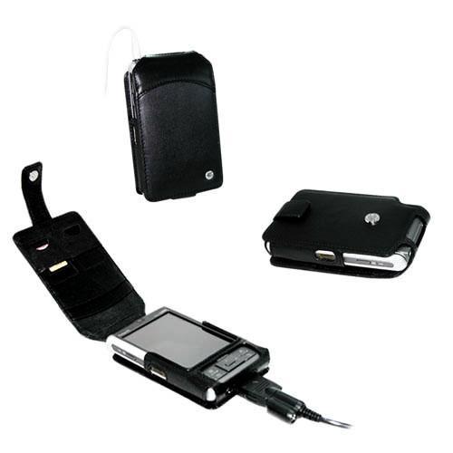 Etui cuir Fujitsu-Siemens Loox N500 - N520 - N560 - C550  Tradit - Noir ( Nappa - Black )