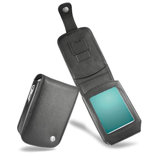 Housse cuir Fujitsu-Siemens Loox N100 - N110  - Noir ( Nappa - Black )