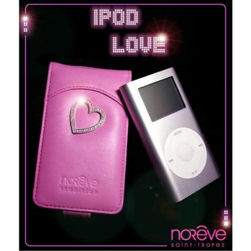 Etui en cuir Apple iPod Love