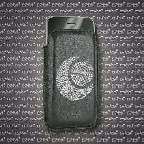 Housse cuir Apple iPhone Diamants - Noir ( Nappa - Black )