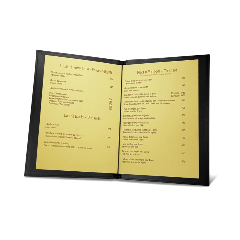 Room service menu holder A5