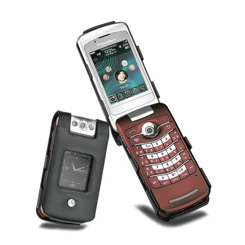 Housse cuir BlackBerry Pearl Flip 8210 - 8220 - 8230  - Noir ( Nappa - Black )