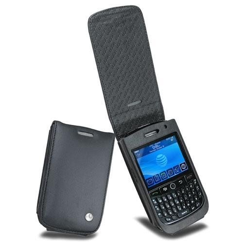 Housse cuir BlackBerry Curve 8900  - Noir ( Nappa - Black )