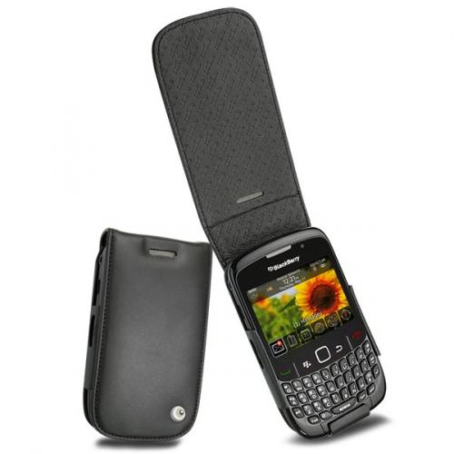 Housse cuir BlackBerry Curve 8520 - 8530 - 9300  - Noir ( Nappa - Black )