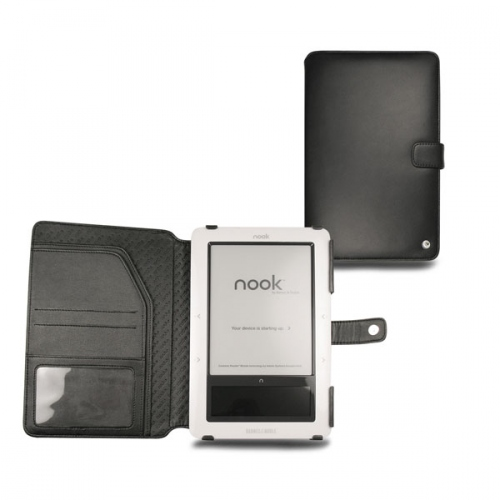 Housse cuir Barnes-Noble Nook  - Noir ( Nappa - Black )