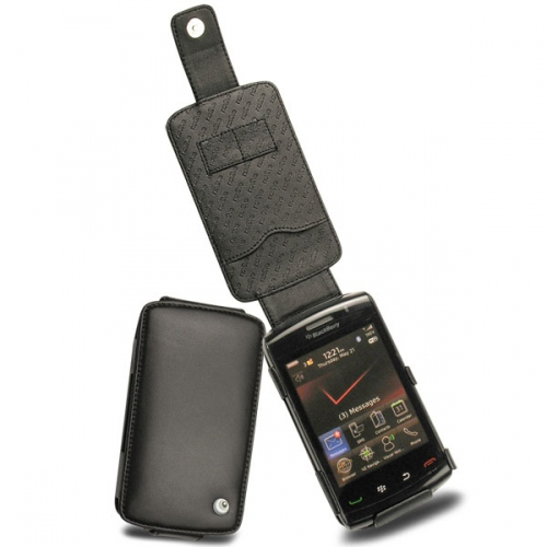 Housse cuir BlackBerry Storm2 9550  - Noir ( Nappa - Black )