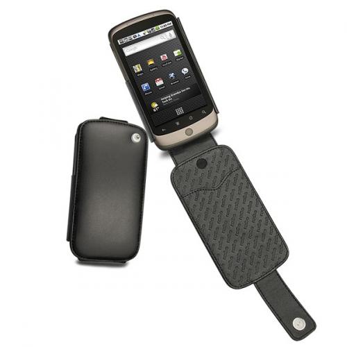 Housse cuir Google Nexus One  - Noir ( Nappa - Black )