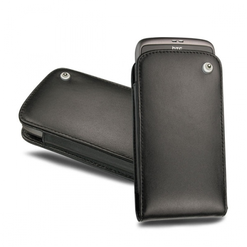 Housse cuir HTC Desire - Google Nexus One - Noir ( Nappa - Black )