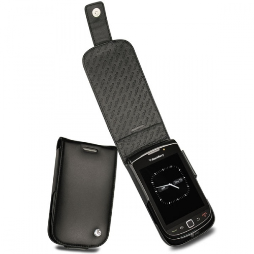 Housse cuir Blackberry Torch 9800  - Noir ( Nappa - Black )