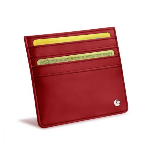 Porte-cartes en cuir - Anti-RFID / NFC