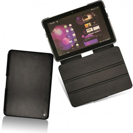 Samsung gt p7500 galaxy tab 10 1 leather case for Housse galaxy tab e