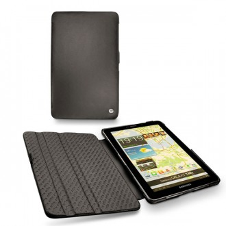 Samsung gt p6800 galaxy tab 7 7 leather case for Housse galaxy tab e