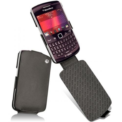 Housse cuir BlackBerry Curve 9350 - 9360 - 9370  - Noir ( Nappa - Black )